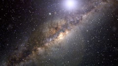 Milky Way Flare Stock Footage