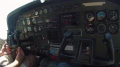 Plane ride - stock footage
