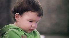 Baby Girl Portrait Stock Footage