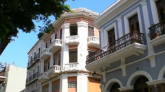 Puerto Rico: Old San Juan Historic Buildings Stock Footage