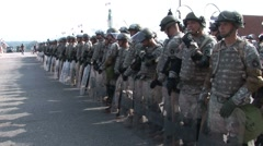 Protestors - National Guard & Police Prepare for Protests at RNC 08' Stock Footage