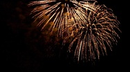 Stock Video Footage of Fireworks 10 Gold