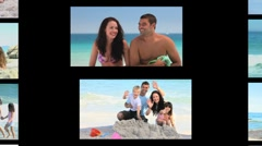 Montage of people on the seaside Stock Footage