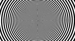 Black / White Graphic and Optical Illusion Stock Footage