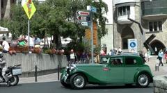 Classic Rolls Royce Oldtimer, St.Moritz, Switzerland, Schweiz Stock Footage
