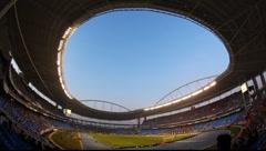 Football game Flamengo vs Botafogo in Rio de Janeiro Fisheye FULL HD 1080P Stock Footage