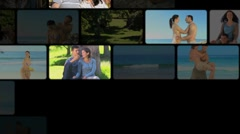 Montage of couples sharing moments together Stock Footage
