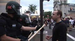 Protestors – Police Make Arrests at RNC 08' 1 - stock footage