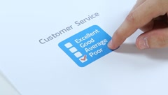 Poor company service control Stock Footage