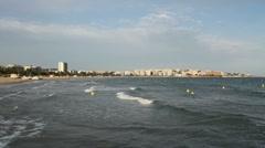 Buoys near the beach Stock Footage