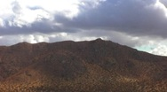 Clouds Over Mountains Mojave Desert 3 Stock Footage