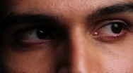 Close up of man's eyes Stock Footage