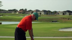Golf hurt back close shot Stock Footage