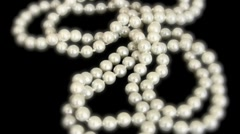 pearl necklace - stock footage