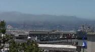 San Francisco Bay, Pier and Golden Gate Bridge HD Stock Footage