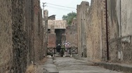Stock Video Footage of Pompeii narrow road P HD 8925