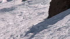 Skiing in powder - stock footage