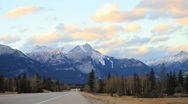 Jasper traffic timelapse wide Stock Footage