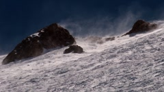 blowing snow on a hill - stock footage