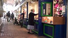 Arcade Shopping Oxford 3 Stock Footage