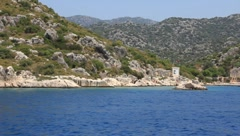 Voyage. Turkey, Kemer, Kekova-Simena Region, Western Taurus - stock footage