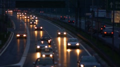 Stock video footage city traffic movement of vehicles on the road Stock Footage