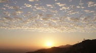 Stock Video Footage of Cloudy Sunset