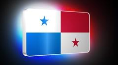 Panama 3d flag Stock Footage