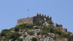 Turkey, Kekova-Simena region, old fortifications Stock Footage