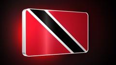 Trinidad and Tobago 3d flag Stock Footage