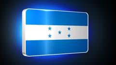 Honduras 3d flag Stock Footage