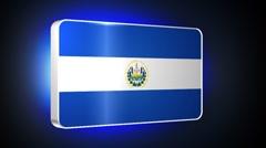 El Salvador 3d flag Stock Footage