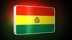 Bolivia 3d flag Stock Footage