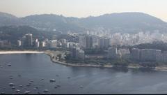Airplane landing Rio de Janeiro Brazil Santos Durmont airport FULL HD 1080P - stock footage
