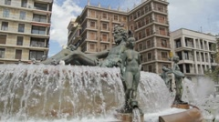 Turia Fountain Stock Footage