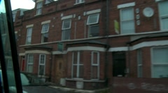 Row houses in city Stock Footage