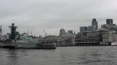 London River Stock Footage