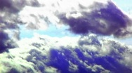 Stock Video Footage of Moving Storm Clouds- Violet 2b