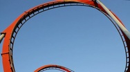 Roller coaster at Port Aventura, Spain. Rollercoaster. Stock Footage