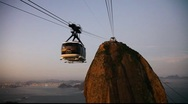 Stock Video Footage of Sugar Loaf Mountain sunset cable car Rio de Janeiro Brazil FULL HD 1080P