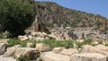 Ruins of ancient Greek-Roman amphitheatre. Myra (Demre), Turkey Footage