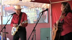 Music duo at county fair Stock Footage