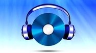 Cd with headphones Stock Footage