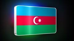 Azerbaijan 3d flag Stock Footage