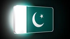 Pakistan 3d flag Stock Footage