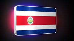 Costa Rica 3d flag Stock Footage
