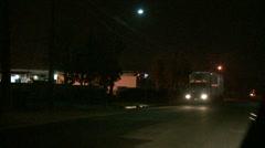 Late Night Truck Drive(HD)c Stock Footage