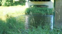 Water under a bridge Stock Footage
