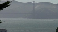 Golden Gate Bridge from a telegraph Hill Stock Footage