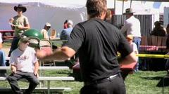 County fair juggler Stock Footage